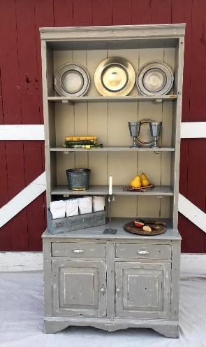 farmhouse painted bookcase hutch