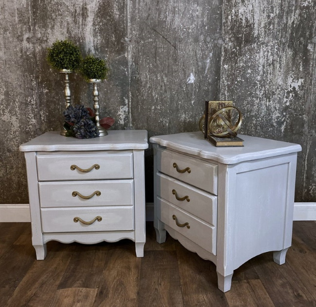 Painted Farmhouse matched nightstands