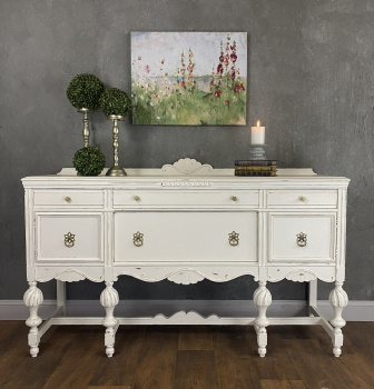 farmhouse painted sideboard white