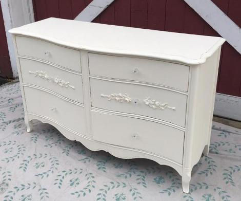 French Provincial white painted dresser