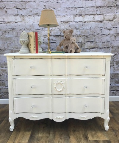 Nursery changing table or shabby chic dresser wihite