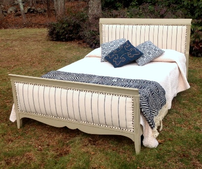 Upholstered full size bed urban chic