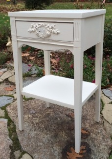 Classic white shabby chi vintage nightstand