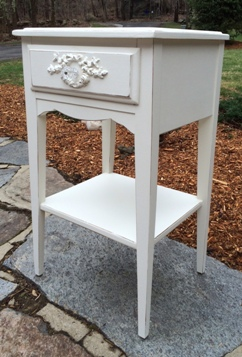 Vintage shabby chic night stand