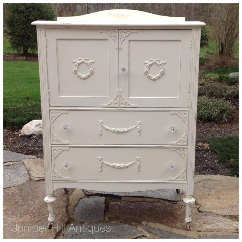 Chifforette painted cottage dresser shabby chic white