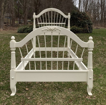 Ethan Allen Twin bed shabby chic white