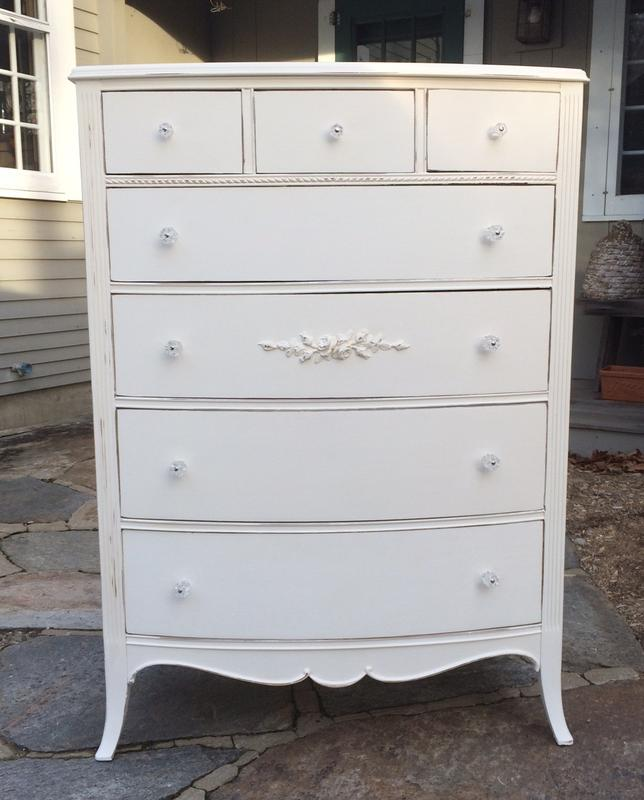Vintage painted cottage dresser with rose garlands