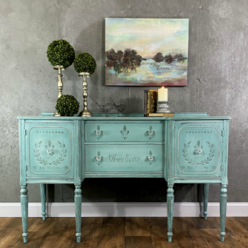 French Stenciled sideboard