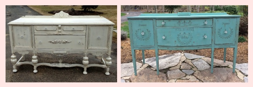 Sideboard Painted shabby chic farmhouse
