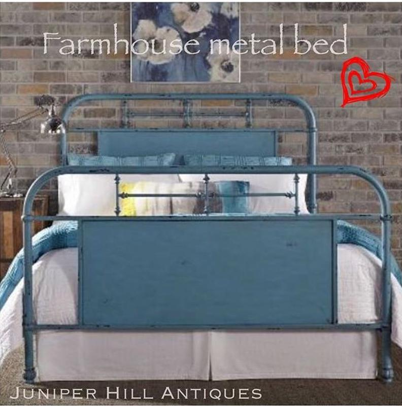 Farmhouse metal bed Urban Farmhouse, Modern famhouse