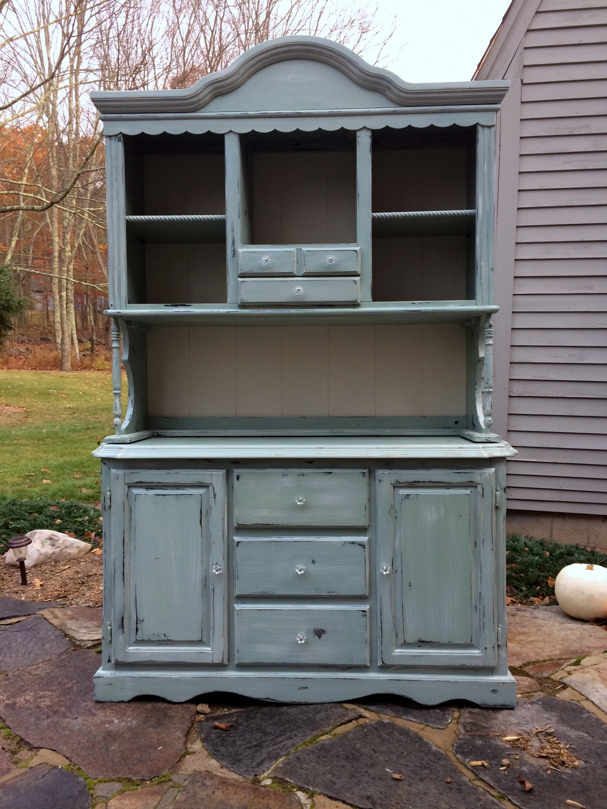 Painted Farmhouse hutch shabby chic