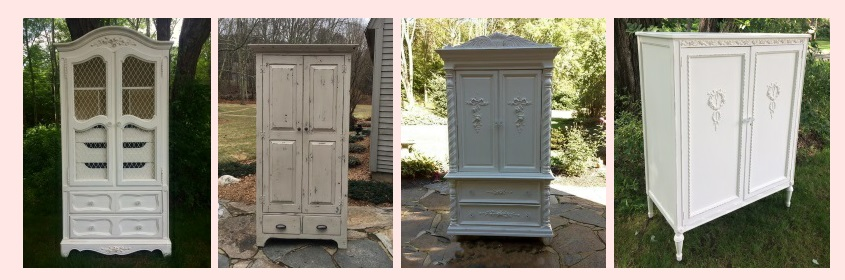 Farmhouse shabby chic armoire