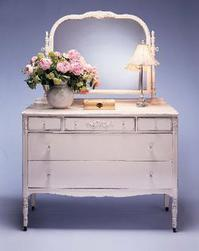 Painted shabby chic vintage furniture