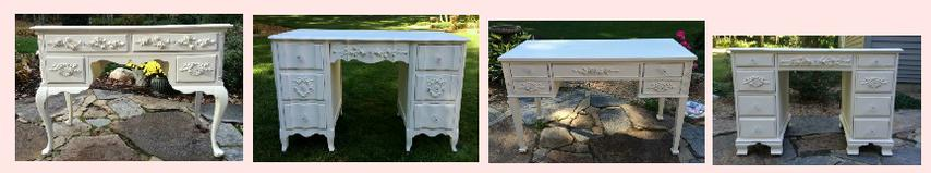 Painted cottage desks white