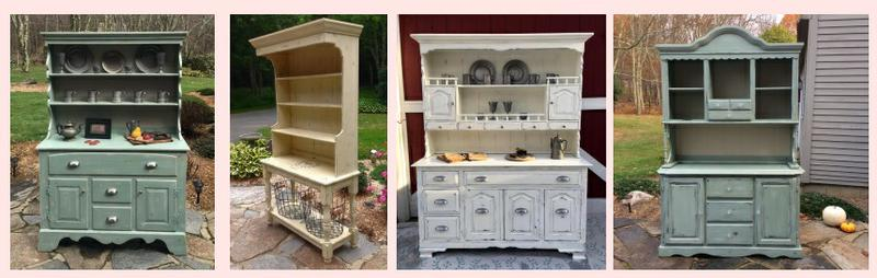 farmhouse hutch painted cottage style