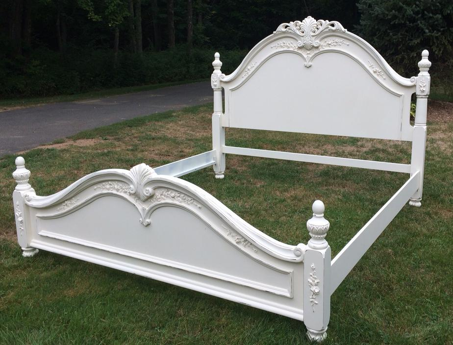 King size bed painted white