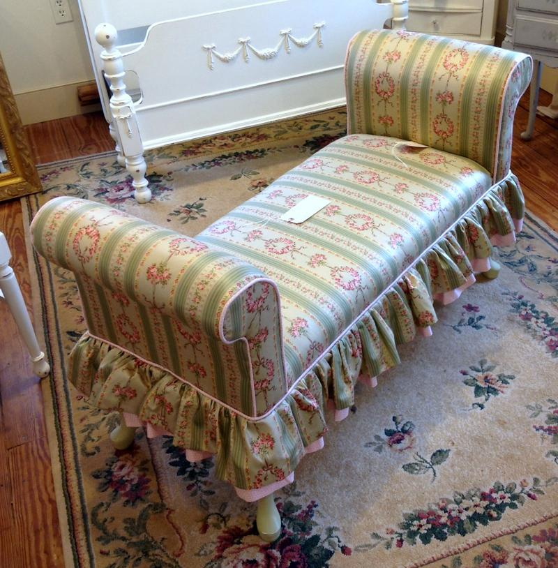Shabby chic end of bed couch