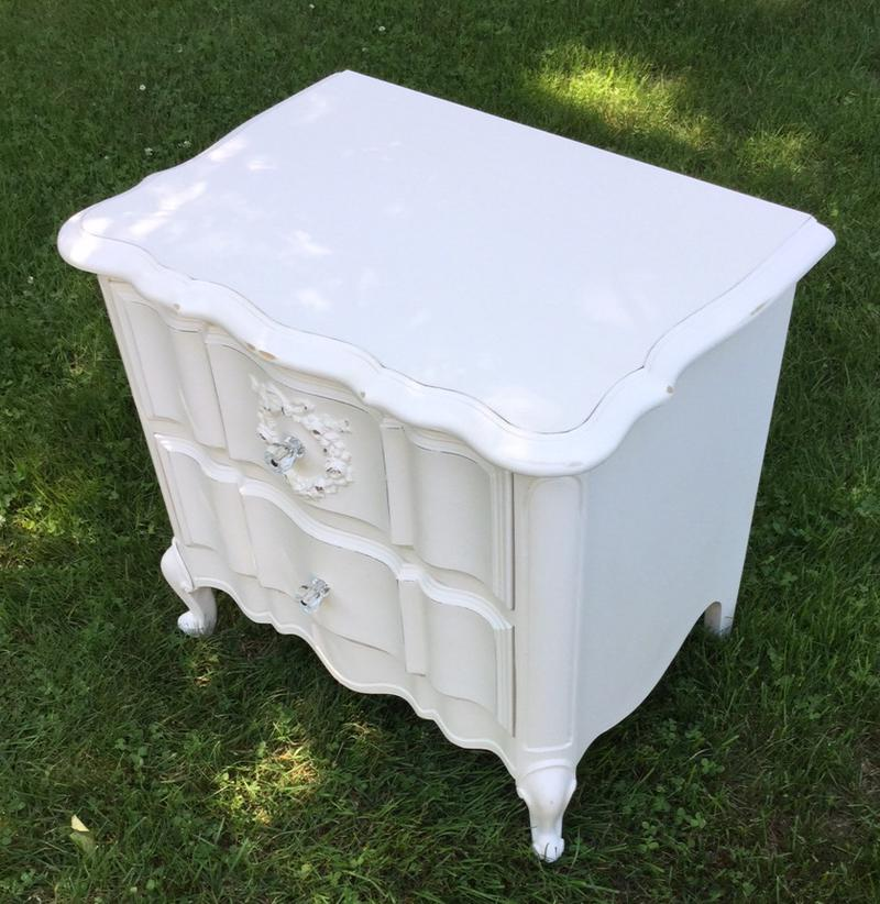 white night stand for bedroom