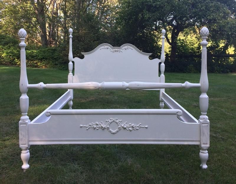 White painted bed for childs bedroom