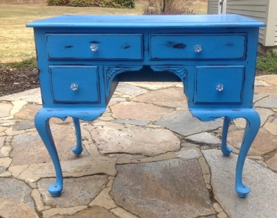Shabby chic chalk painted desk for childs room