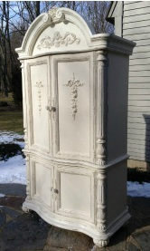 Painted Vintage Armoire white