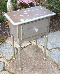 Urban chic metalic painted nightstand