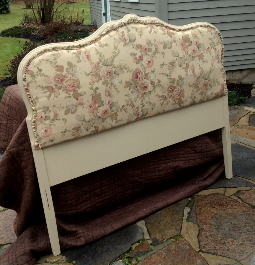 full size upholstered shabby chic headboard